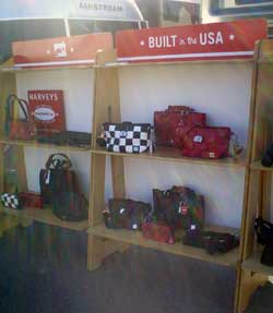 Harveys bags on display during the NASCAR race weekend at Infineon Raceway