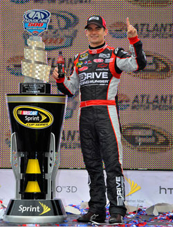 Jeff Gordon, driver of the No. 24 Drive to End Hunger Chevrolet, during the NASCAR Sprint Cup Series race weekend at Atlanta Motor Speedway. (Courtesy of Hendrick Motorsports)