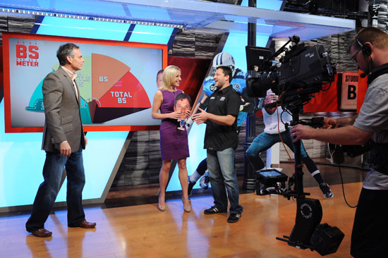 SportsNation with hosts Lindsay Czarniak, Colin Cowherd and Chase for the NASCAR Sprint Cup leader Tony Stewart...Credit: Joe Faraoni/ESPN