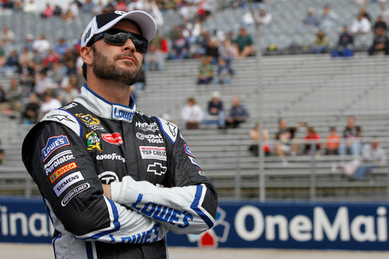 Jimmie Johnson, driver of the No. 48 Lowe's/KOBALT Tools Chevrolet, during the NASCAR Sprint Cup Series race weekend at Dover International Speedway. (Courtesy of Hendrick Motorsports)