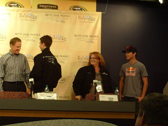 Betty Jane France Humanitarian Award Finalists with Sprint Cup Series Drivers