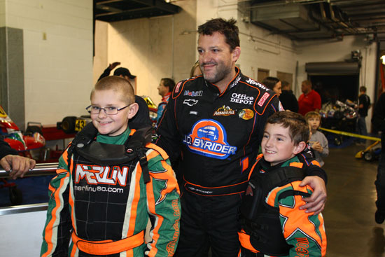 Tony Stewart and some young racers